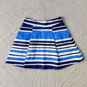 Kate Spade Skirt the Rules A Line Striped Skirt